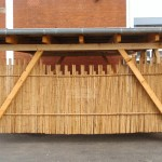 Carport mit Bambusumrandung / Bambusrollzaun