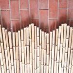 Nahaufnahme Bambusrollzaun